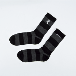Santa Cruz - Mono Hand Stripe Socks - Black / Dark Heather
