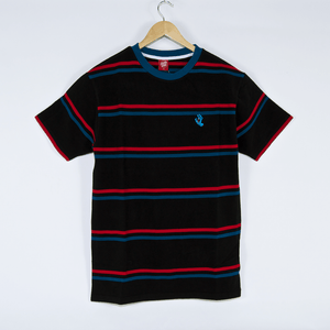 Santa Cruz - Screaming Mini Hand Stripe T-Shirt - Black