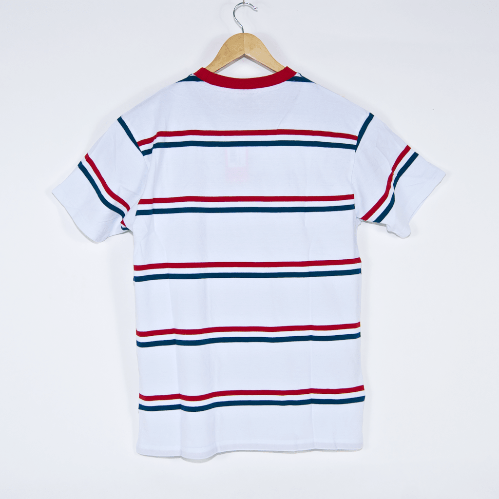Santa Cruz - Screaming Mini Hand Stripe T-Shirt - White