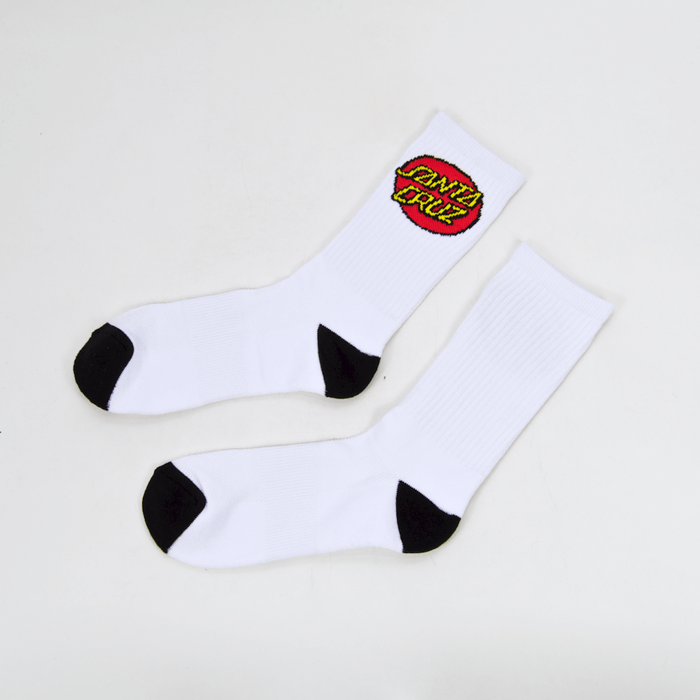 Santa Cruz Skateboards - Classic Dot Socks - White