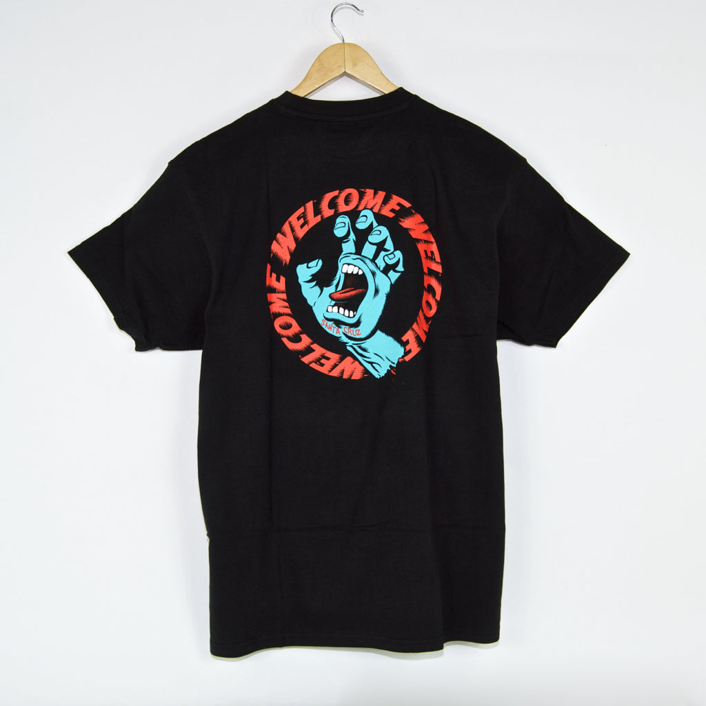 Santa Cruz - Welcome Skate Store x Santa Cruz T-Shirt - Black