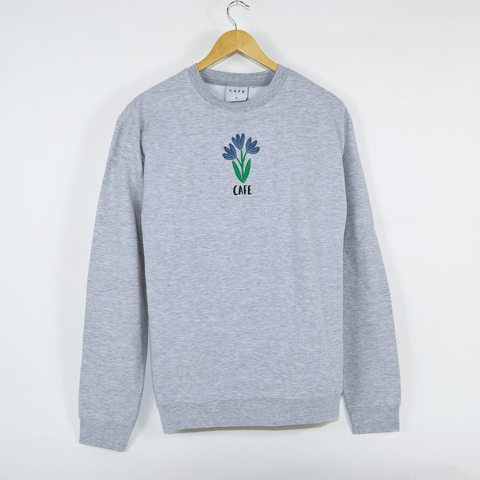 Skateboard Cafe - Blues Crewneck Sweatshirt - Heather Grey