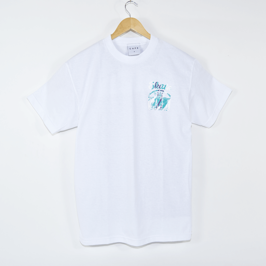 Skateboard Cafe - Cup T-Shirt - White