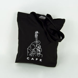 Skateboard Cafe - Jazz Sketch Tote Bag - Black