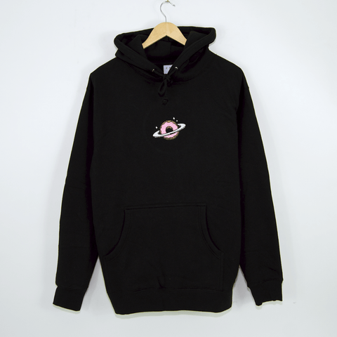 Skateboard Cafe - Planet Donut Embroidered Pullover Hooded Sweatshirt - Black