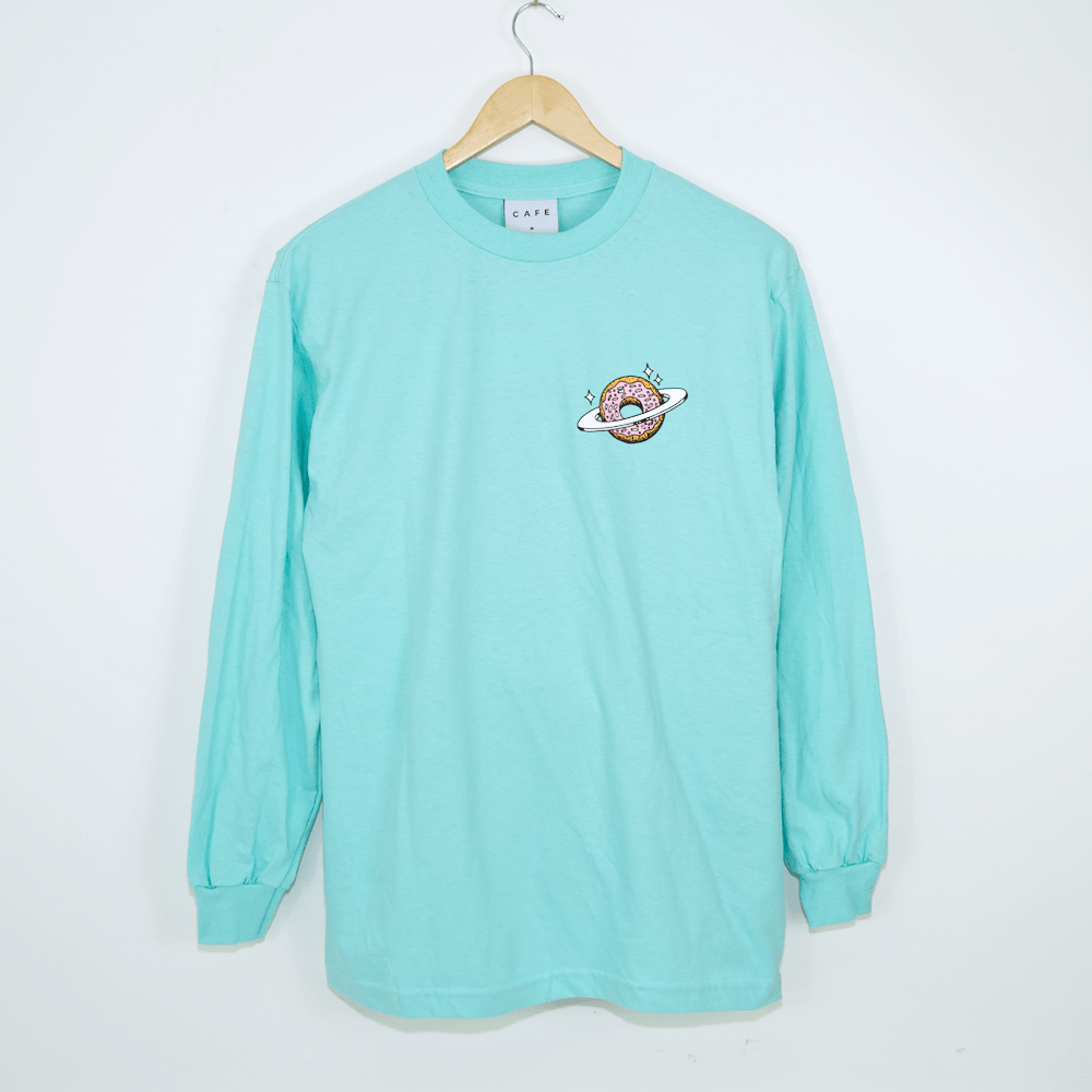 Skateboard Cafe - Planet Donut Longsleeve T-Shirt - Icing Blue