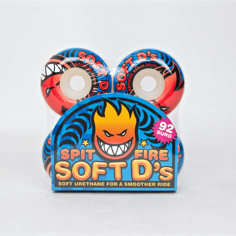 Spitfire - 54mm (92a) Soft D's Skateboard Wheels