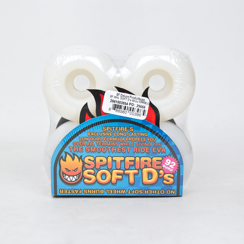 Spitfire - 56mm Soft D's Skateboard Wheels (92 Duro)