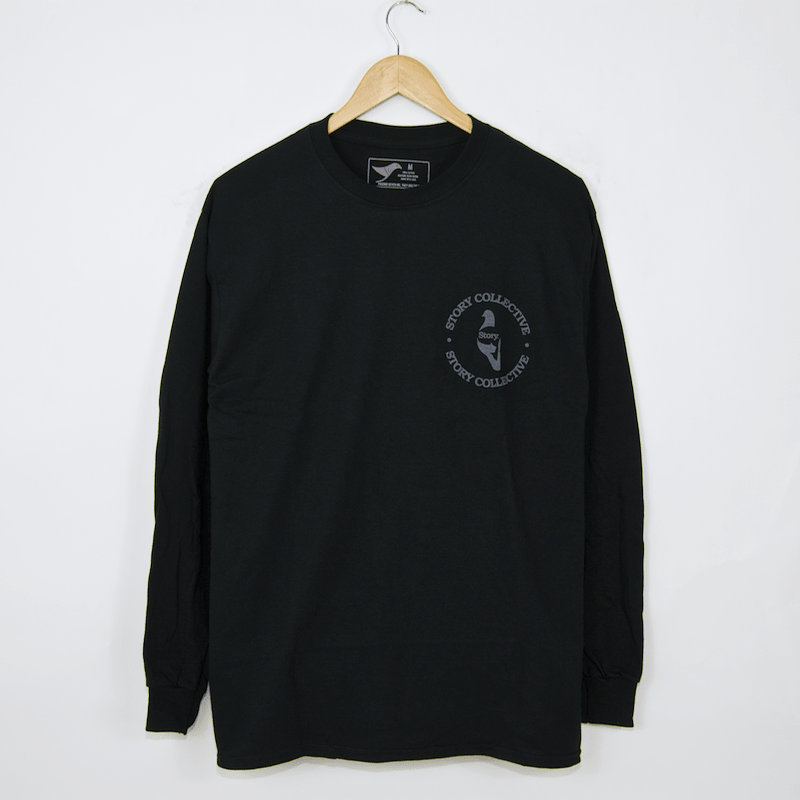 Story Collective - Logo Longsleeve T-Shirt - Black