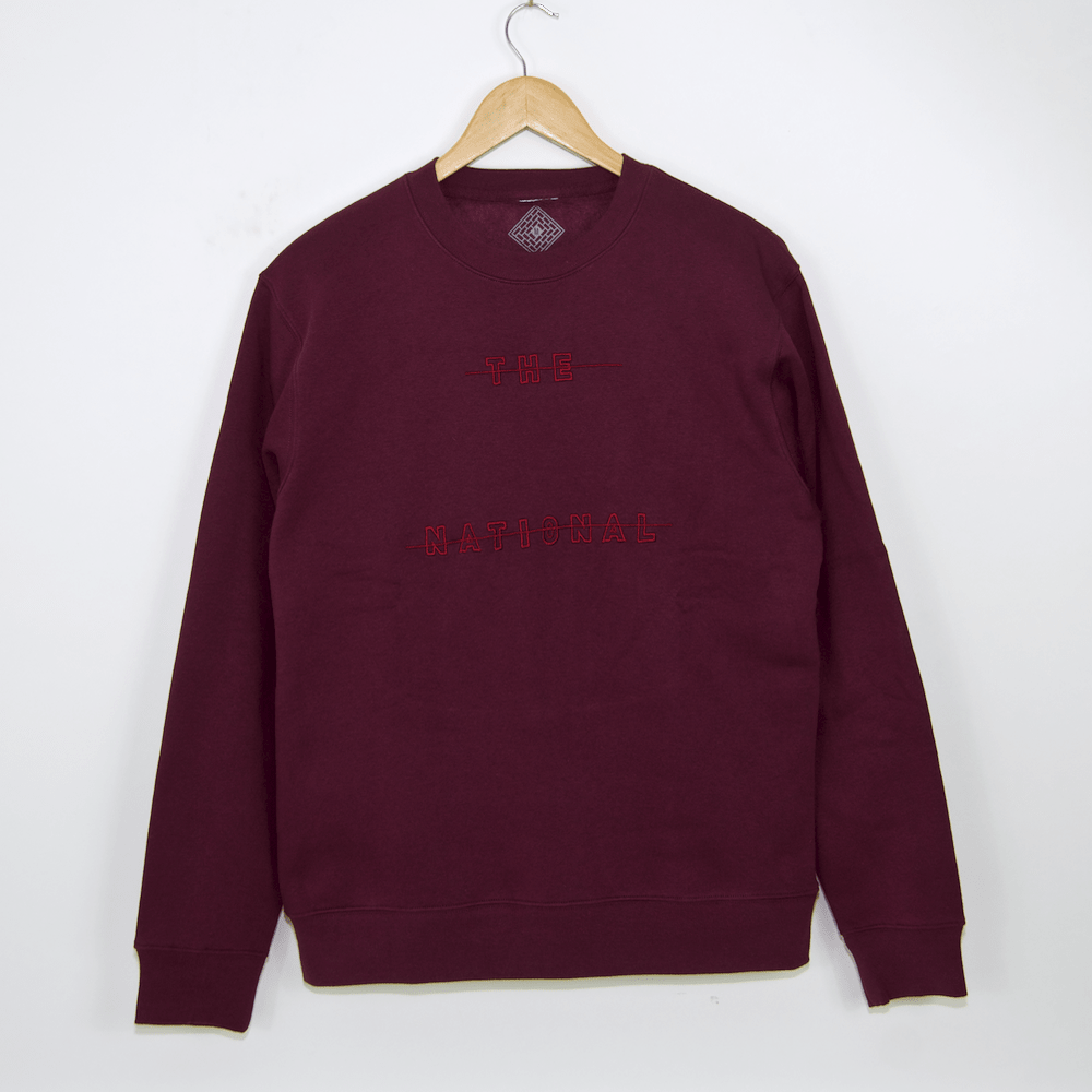 The National Skateboard Co. - Redacted Crewneck Sweatshirt - Burgundy