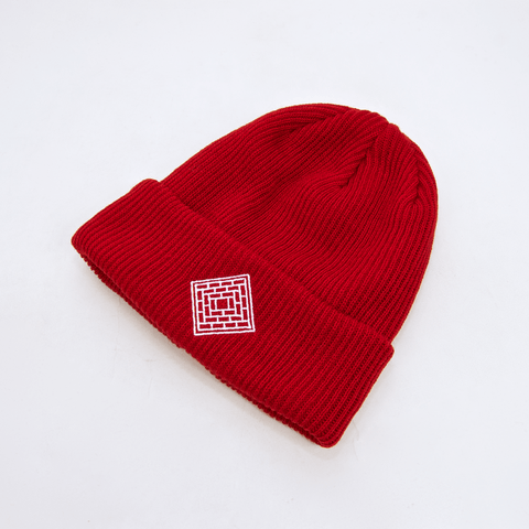 The National Skateboard Co. - Double Fold Logo Beanie - Red