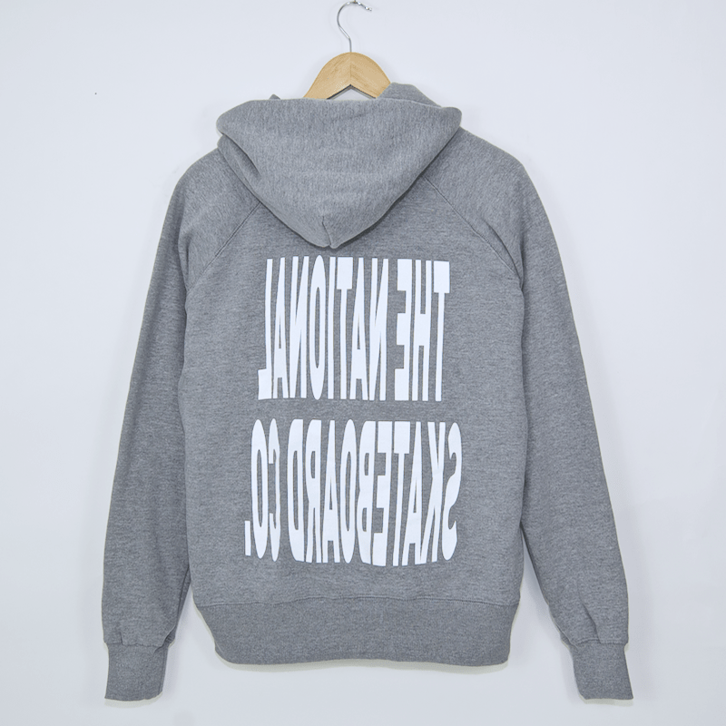 The National Skateboard Co. - Push Thru Hooded Sweatshirt - Heather Grey
