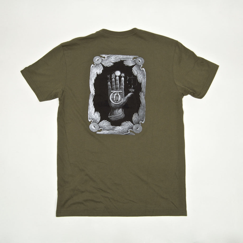 Theories Of Atlantis - Hand Of Theories T-Shirt - Olive