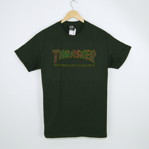 Thrasher - Davis Logo T-Shirt - Forest Green