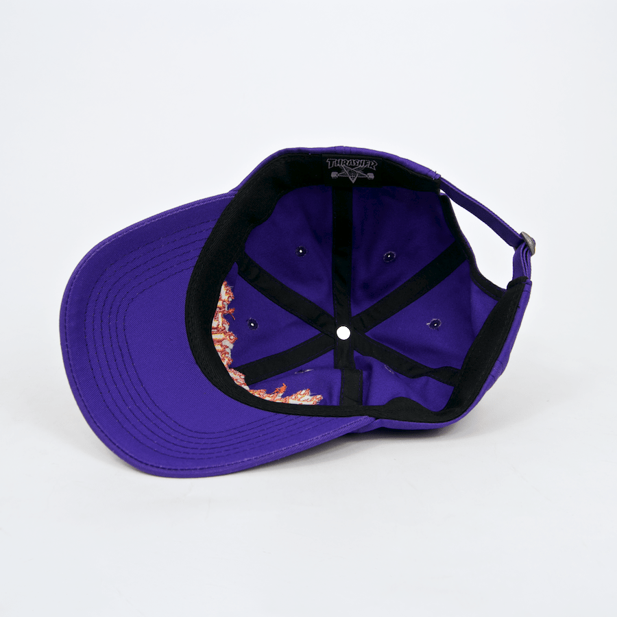 Thrasher - Flame Old Timer Cap - Purple