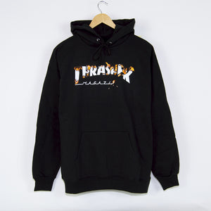 Thrasher - Intro Burner Pullover Hooded Sweatshirt - Black
