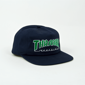 Thrasher - Outlined Snapback Cap - Navy / Green