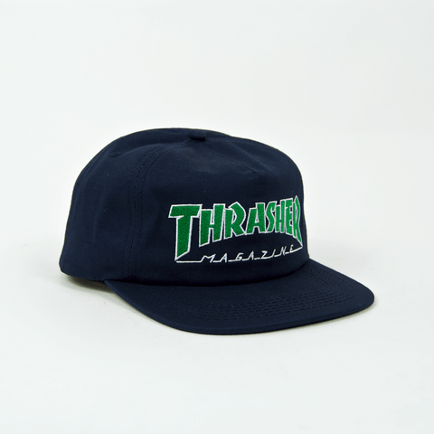 Thrasher - Outlined Snapback Cap - Navy