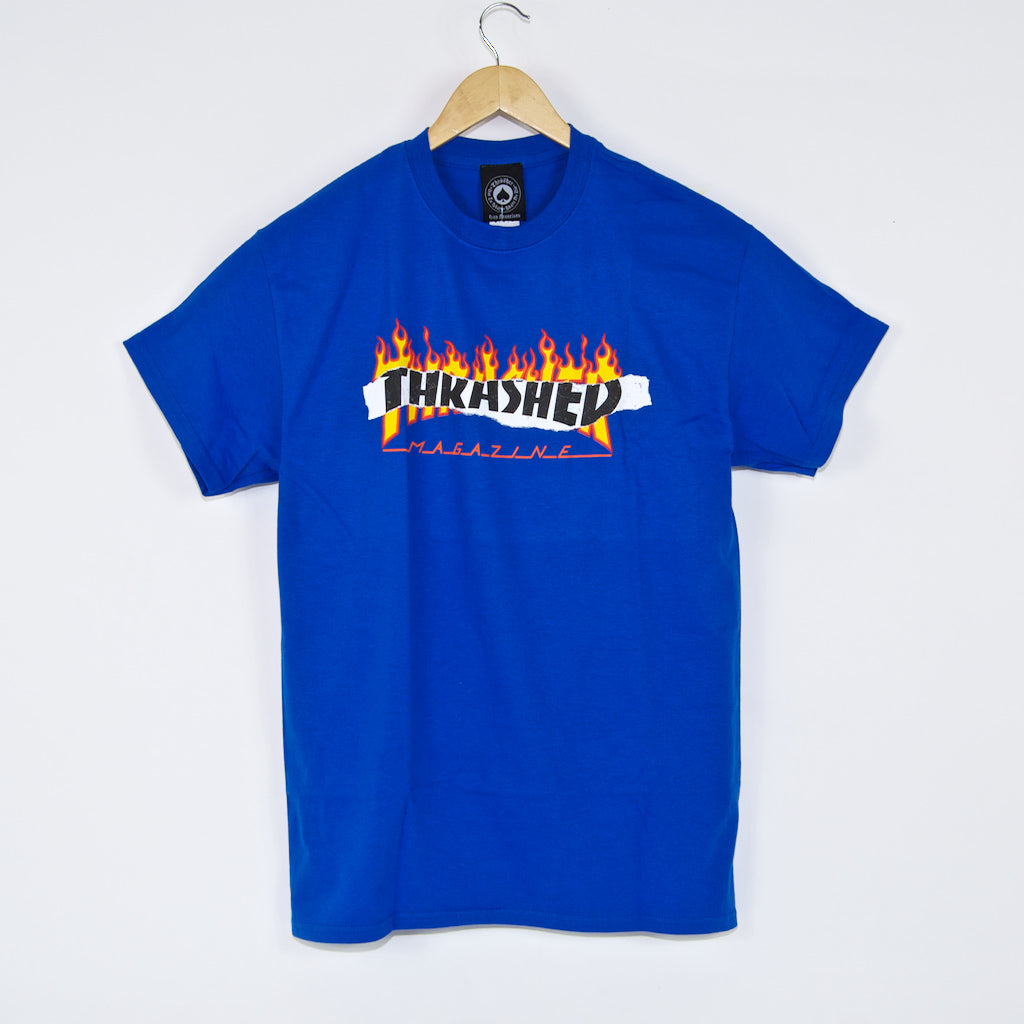 Thrasher - Ripped T-Shirt - Royal Blue