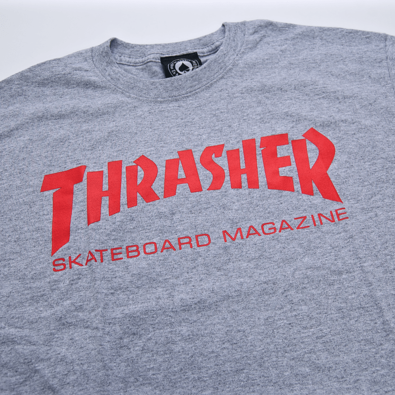 Thrasher - Skate Mag T-Shirt - Heather Grey / Red
