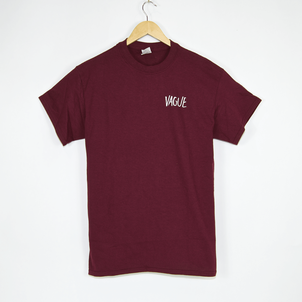 Vague Mag - Face T-Shirt - Maroon