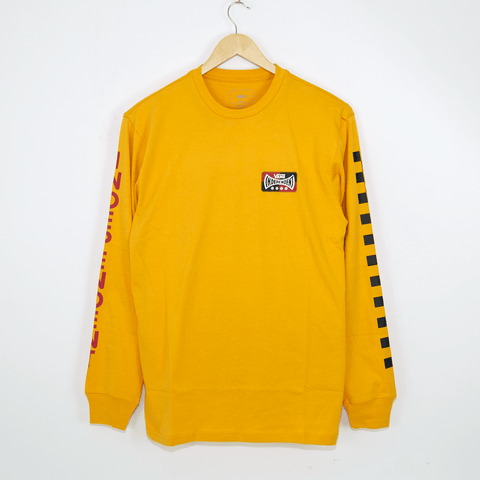 Vans - Independent Checkerboard Longsleeve T-Shirt - Sunflower Yellow