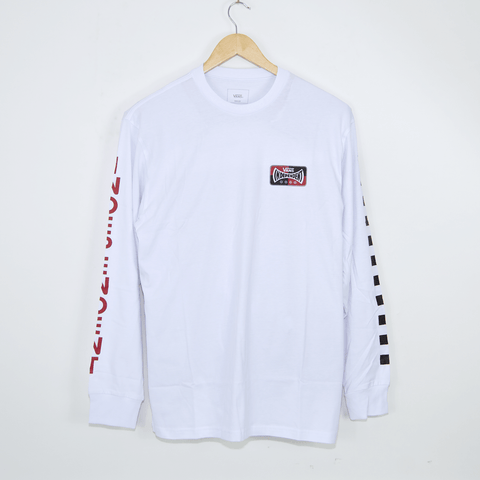 Vans - Independent Checkerboard Longsleeve T-Shirt - White