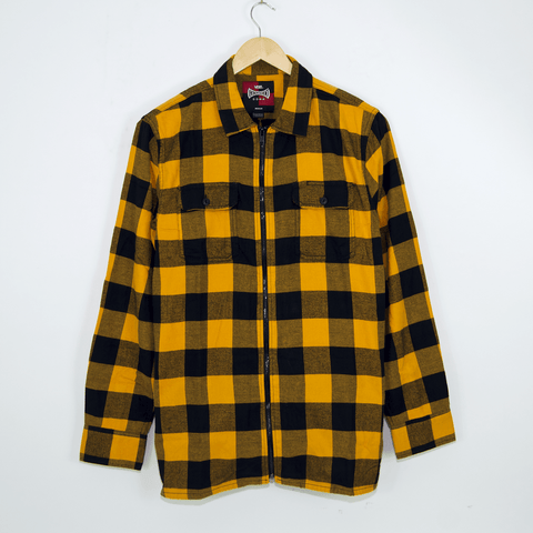 Vans - Independent Zip Flannel Longsleeve Shirt - Sunflower Yellow