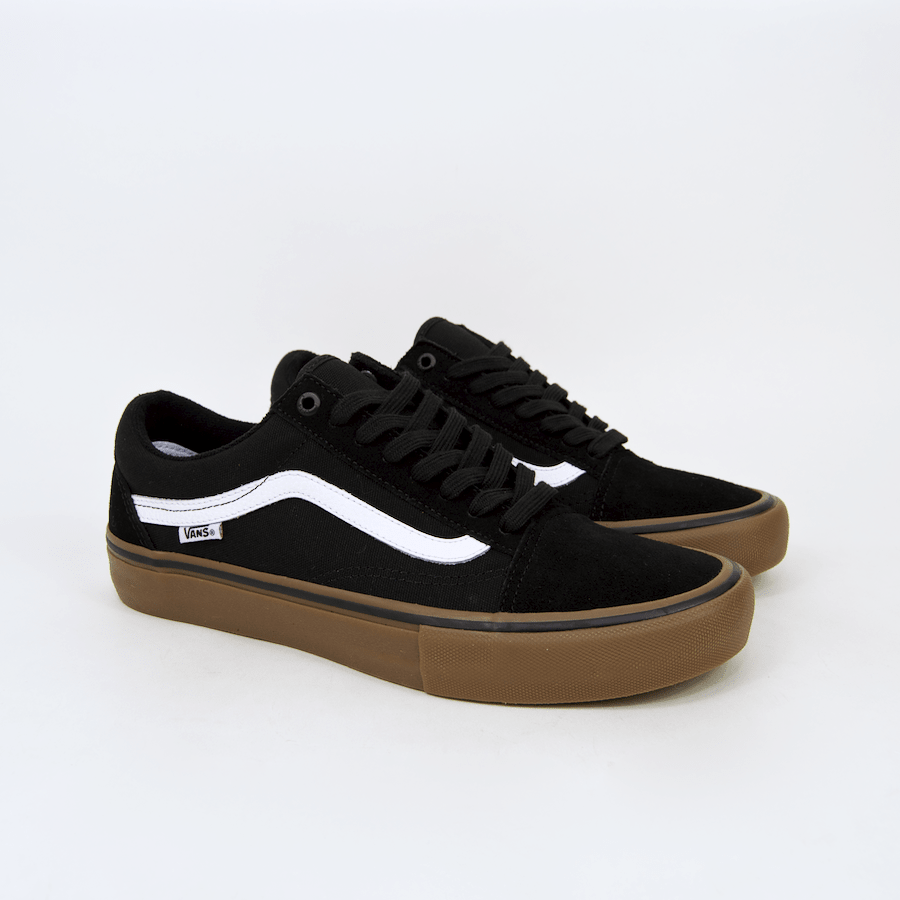 6511a49a0e0 ... Vans - Old Skool Pro Shoes - Black   White   Gum ...