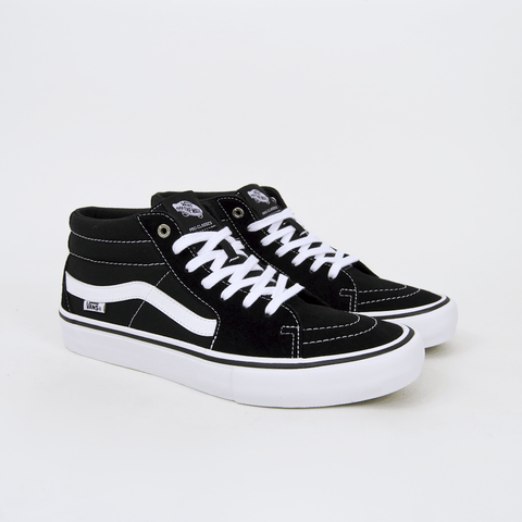 Vans - Sk8-Mid Pro Shoes - Black / White