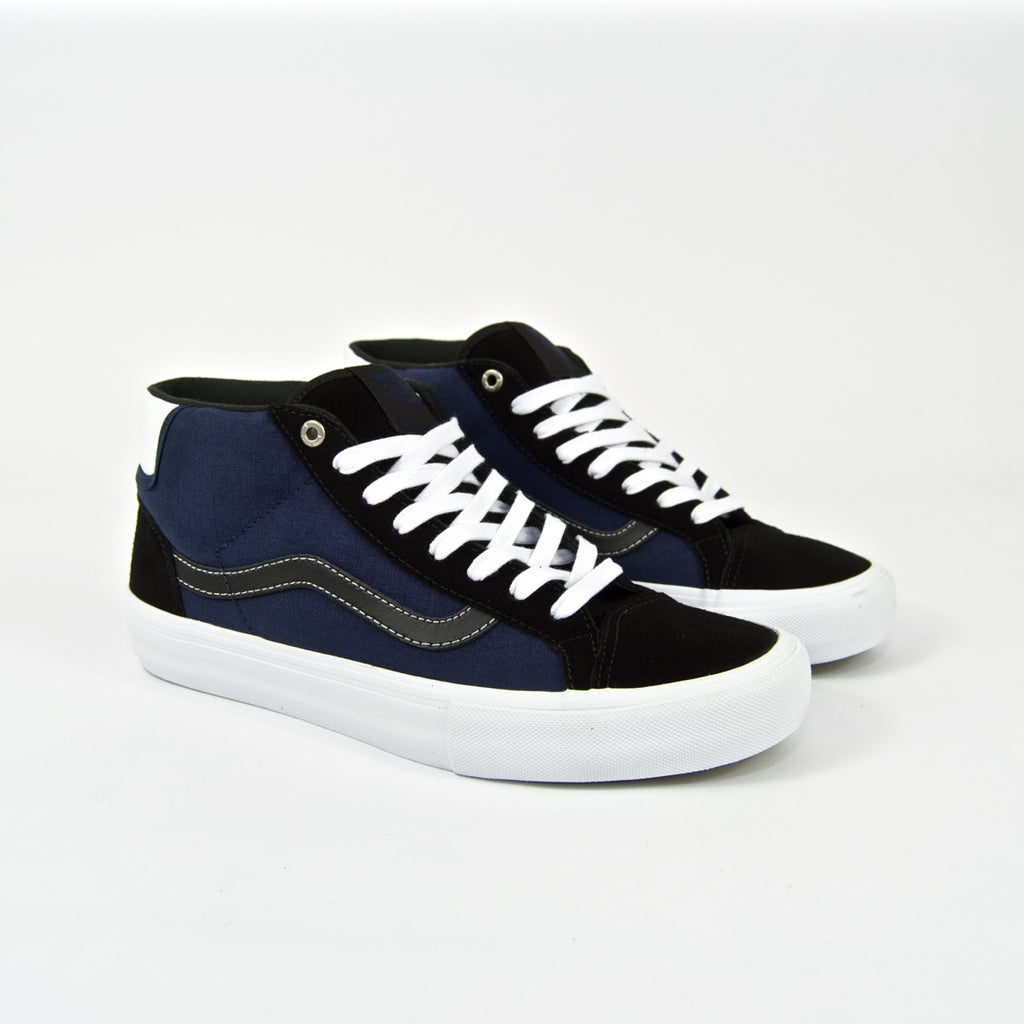 Vans - Street Machine Mid Skool Pro Shoes - Black / Dark Blue / True White