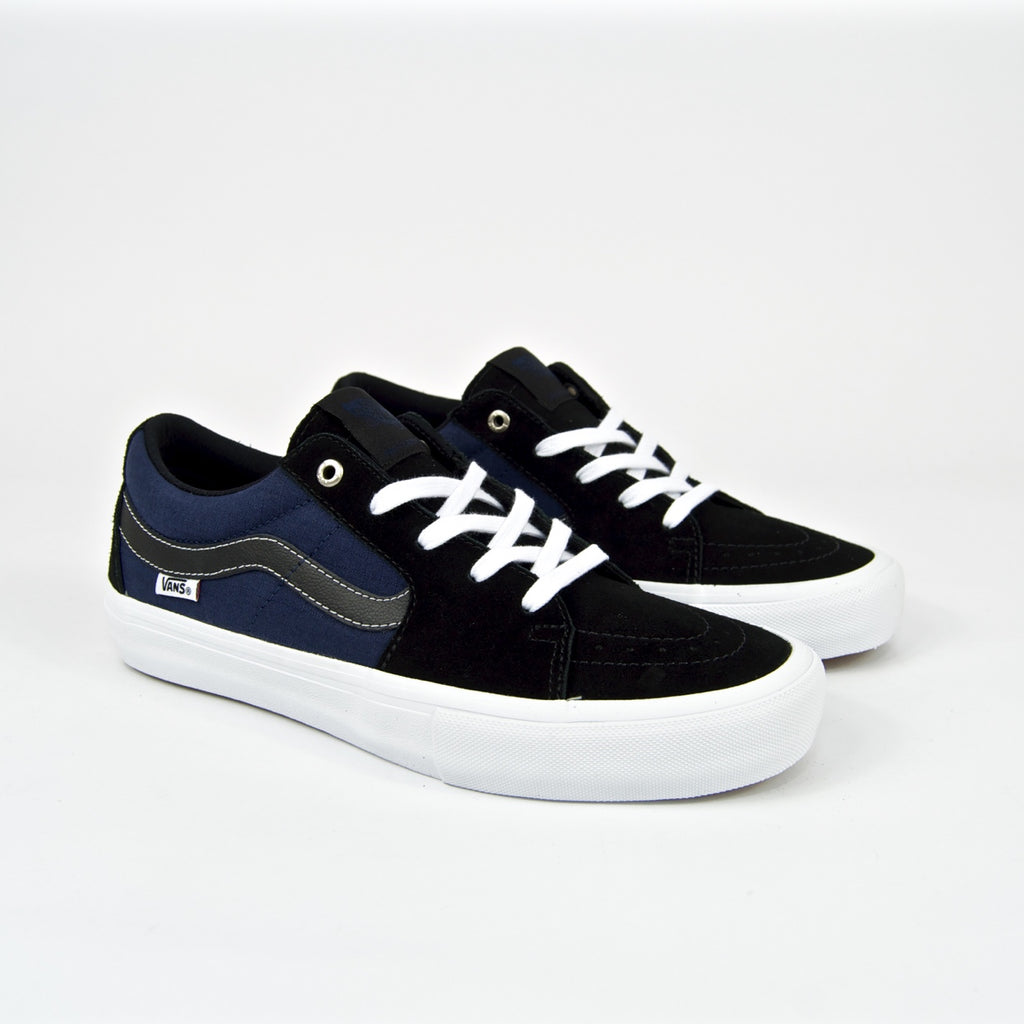 Vans Sk8 Low Pro Shoes (Streetmachine) Black Dark Blue