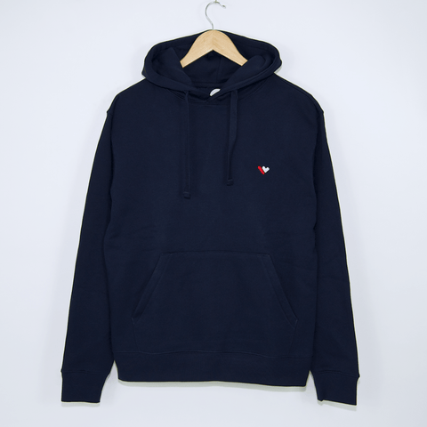 Welcome Skate Store - Borg Pullover Hooded Sweatshirt - Navy