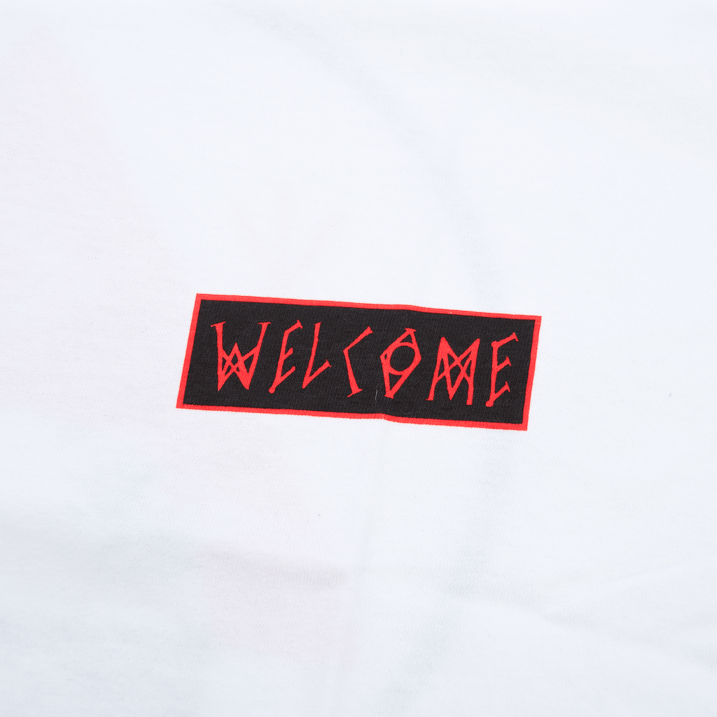 Welcome Skateboards - Balance T-Shirt - White / Black / Red