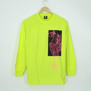 Welcome Skateboards - Rubberneck Longsleeve T-Shirt - Safety Green / Pink