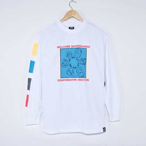 Welcome Skateboards - Seance Longsleeve T-Shirt - White / Primary