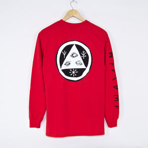 Welcome Skateboards - Tali-Scrawl Longsleeve T-Shirt - Red / Black