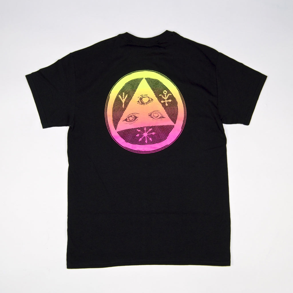 Welcome Skateboards - Vertigo T-Shirt - Black / Surf Fade