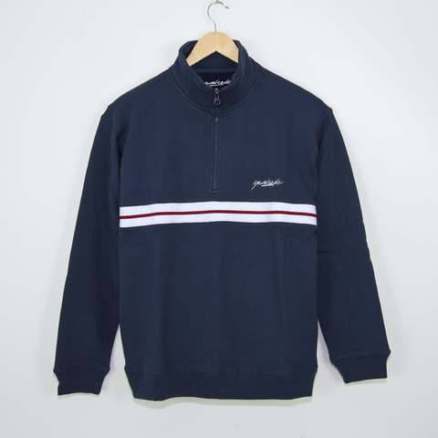 Yardsale - Blair Quarter Zip Sweatshirt - Marine Blue