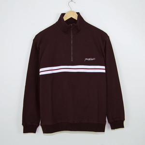 Yardsale - Blair Quarter Zip Sweatshirt - Sangria