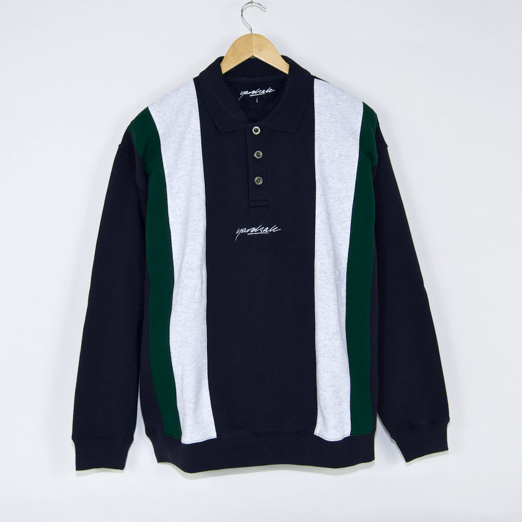 Yardsale - Casino Polo Sweatshirt - Navy / Green / White