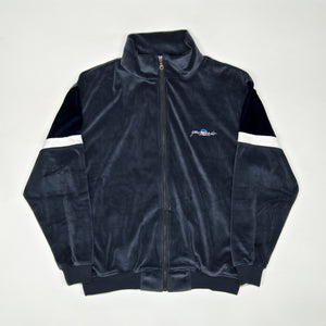 Yardsale - Cruz Velour Track Top - Wolf Grey