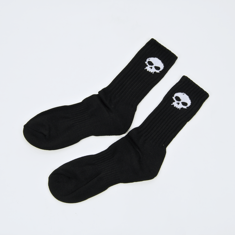 Zero Skateboards - Skull Crew Socks - Black