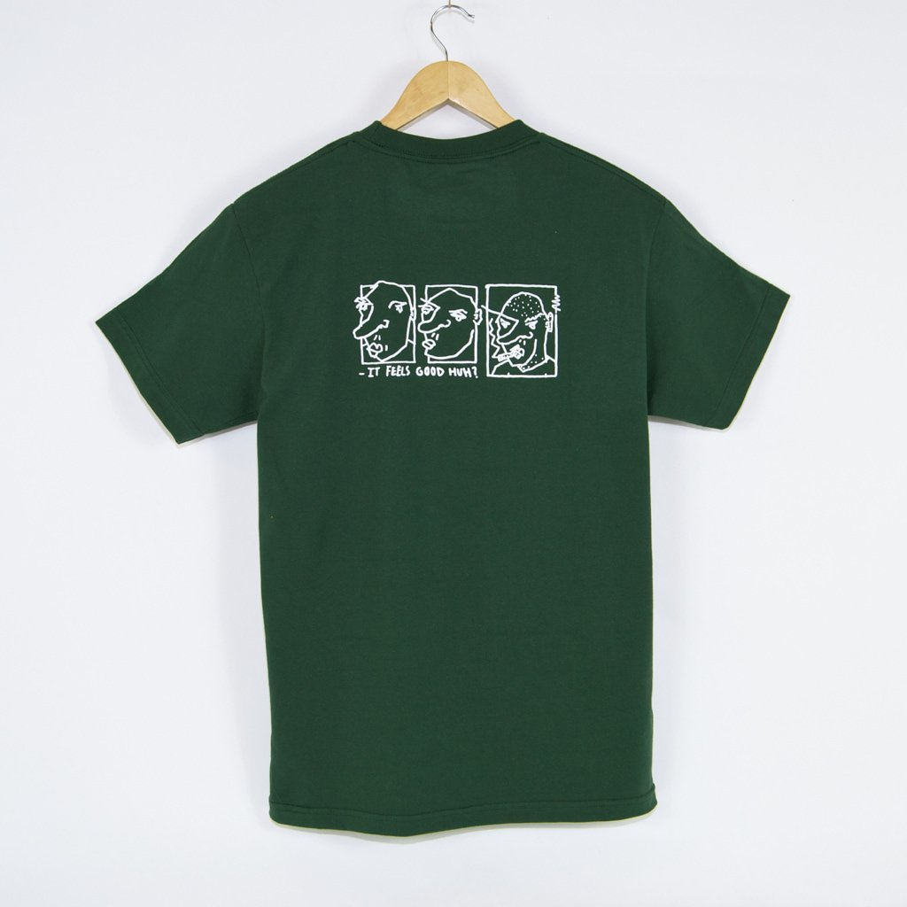 Welcome Skate Store x Alv - It Feels Good Huh? T-Shirt - Forest Green