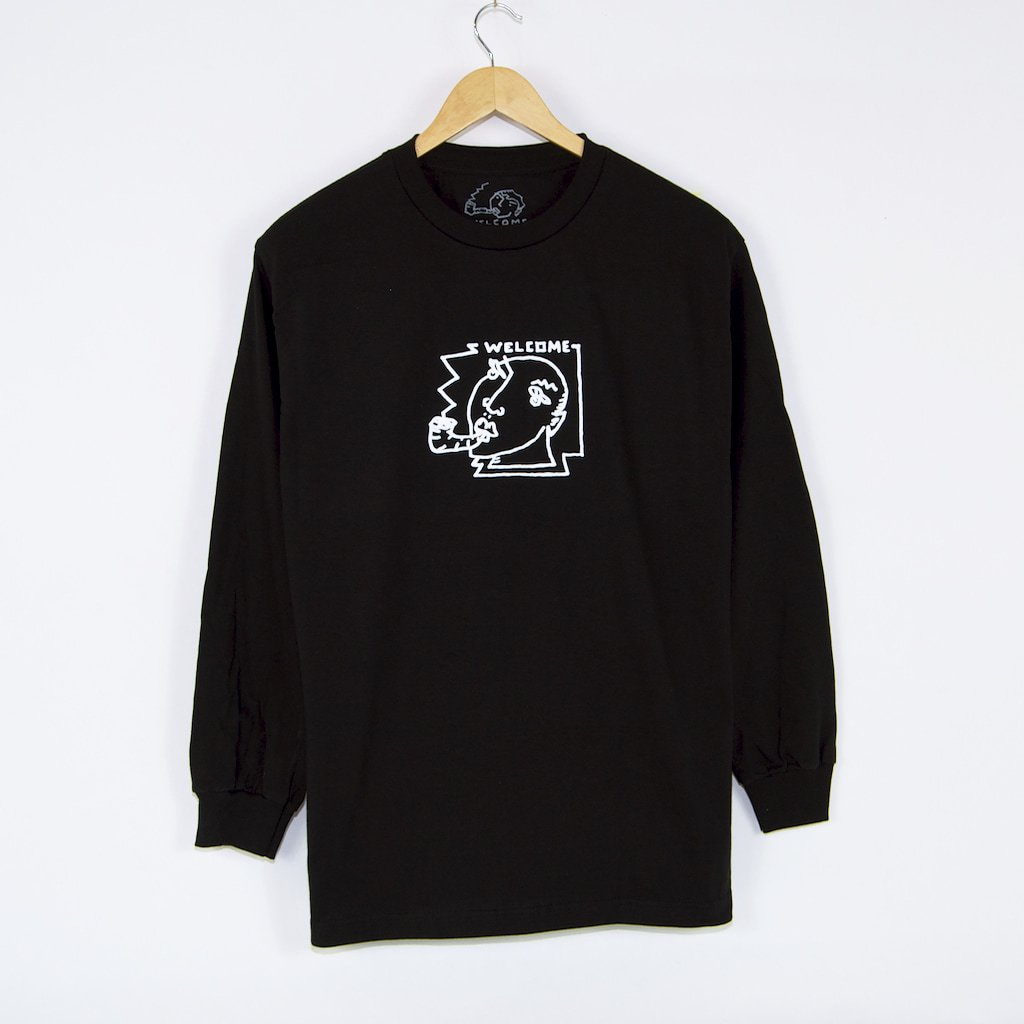 Welcome Skate Store x Alv - Portrait Longsleeve T-Shirt - Black