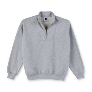 Polar Skate Co. - Zip Neck Sweatshirt - Sport Grey