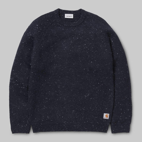 Carhartt WIP - Anglistic Sweater - Dark Navy Heather