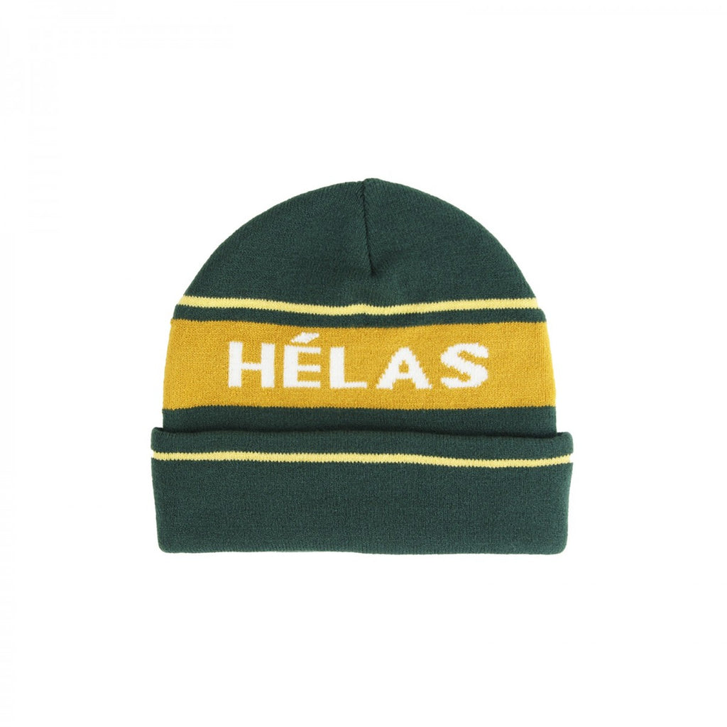 Helas - Knitted Beanie - Green / Orange