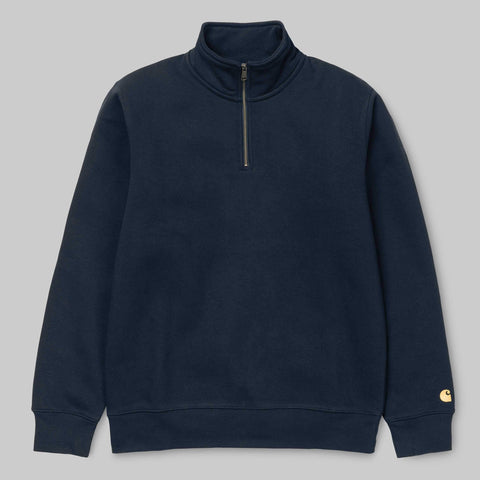 Carhartt WIP - Chase Highneck Sweatshirt - Dark Navy / Gold