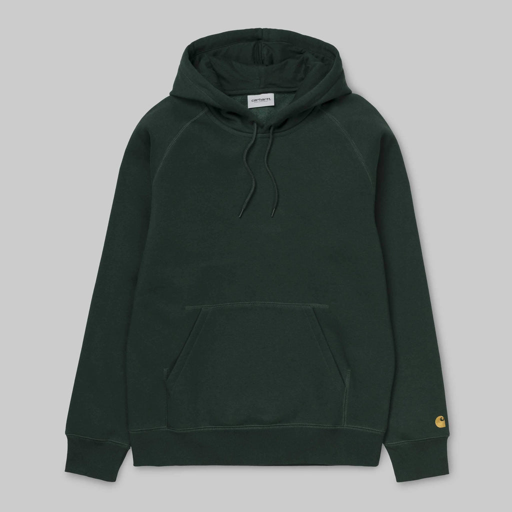 Carhartt WIP - Chase Hooded Sweatshirt - Bottle green / Gold